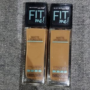 2 Maybelline Fit me Foundation #362 Truffle